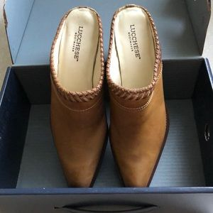 Lucchese mules. NWT. See pics 9.5